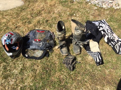 CK-X Helmet Size M  Shift Boots Size 8  Fox Chest Protector Size L  Fox Pants L  Fox Gloves M