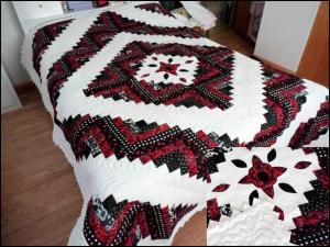 Points on Quilt to add that additional flair!