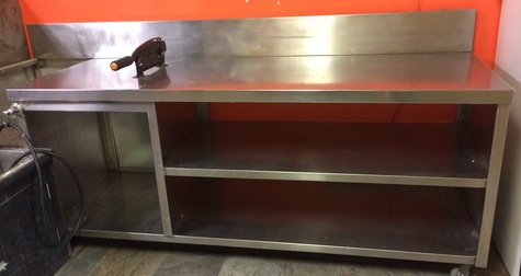 stainless work table