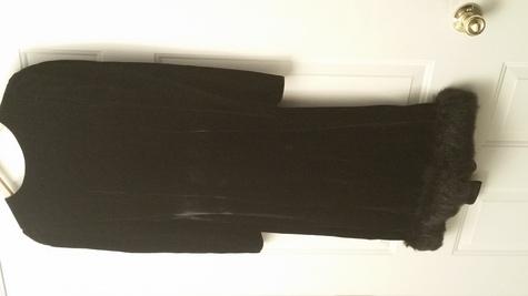 Vintage CHIC velvet with fur bottom
