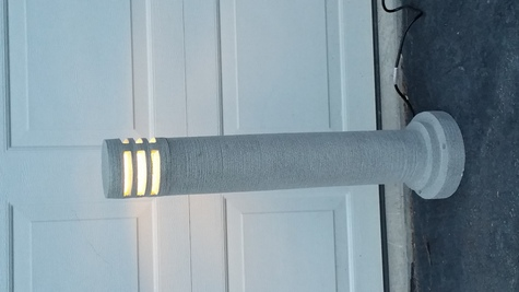 110 volt Pedistal Garden Lights