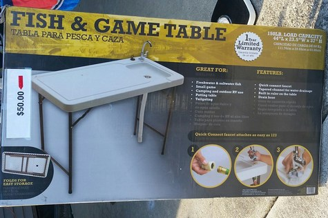 Outside Table with water hook up