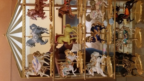 Carousel horses collection set of 12