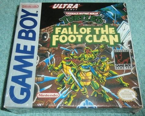 Teenage Mutant Ninja Turtles 'Fall of the Foot Clan' ViINTAGE/STILL NEW Nintendo Gameboy game