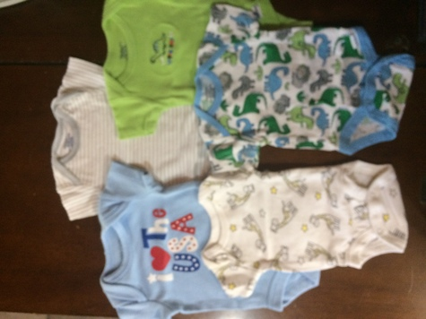 Newborn infant boys onesies