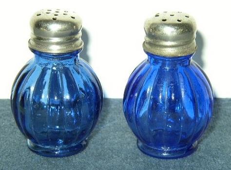 Cobalt Blue Salt & Pepper Shakers - Pot-Belly