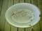 Old Nice And Big Oval Porcelain White Speckled Pan -old-old-old