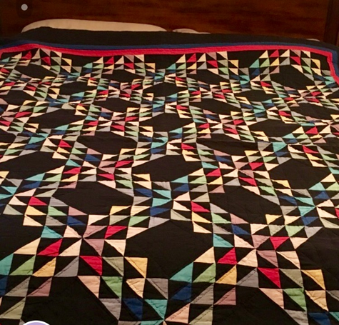 Vintage Amish quilt king size