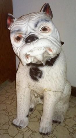 Plaster Bull Dog Statue