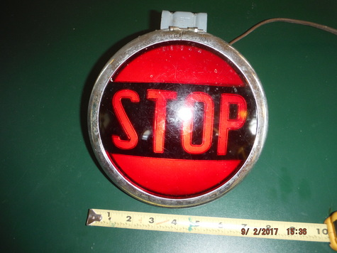 Vintage School Bus Lighted Stop Light