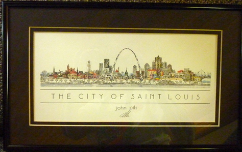 The City of Saint Louis matted and framed