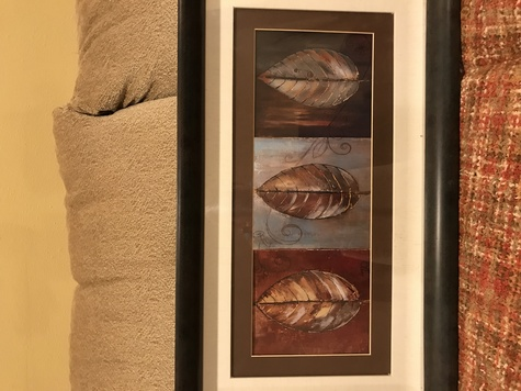 Patricia Pinto Leaf Panel - Framed Picture