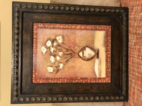 Metal Framed Art - Flowers in a Vase