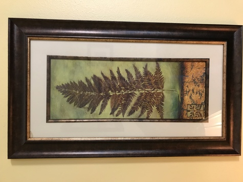 Set of 3 Leaf Panel Framed Pictures