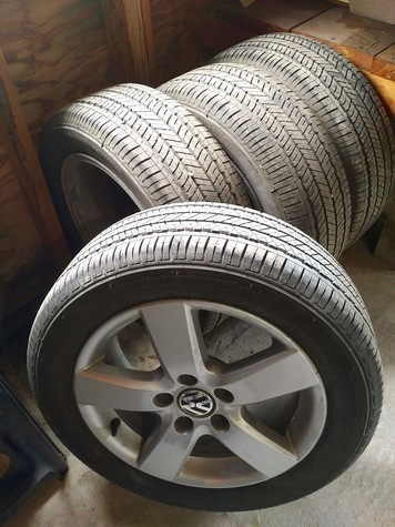 4 VW Alloy Rims with Bridgestone Turanza Tires