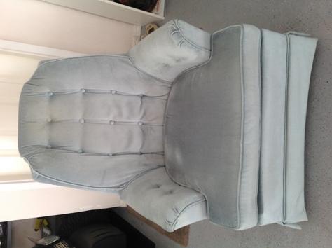 Upholstered velvet swivel rocket
