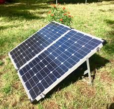 Solar panel Unfolded