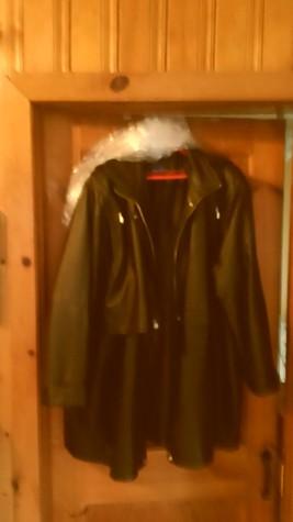 Women's Black Leather Jacket, Size 3X