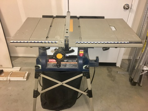 Blue / Gray Table Saw