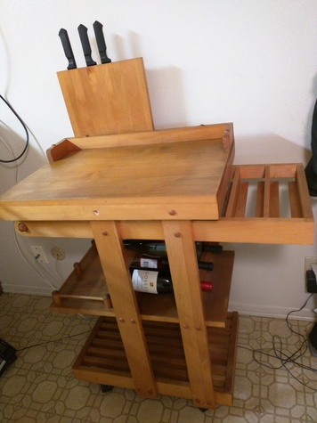 Rolling Butcher Kitchen Table