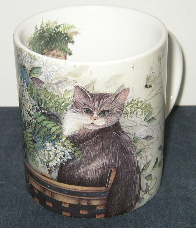 "Cat Mug - ""I Love Smelling the Flowers"""