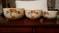 Mixing Bowls-Vintage: 3 HALL's Orange Poppy Mixing Bowls