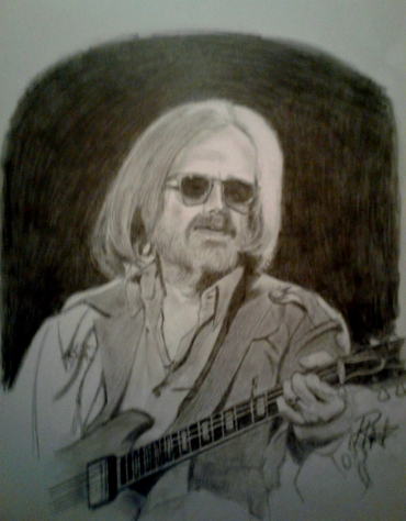 Pencil rendering of Tom Petty