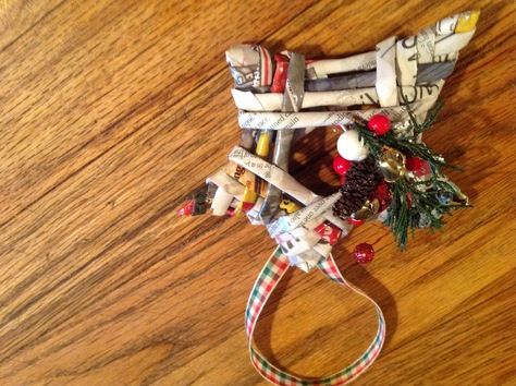 News paper Christmas ornaments