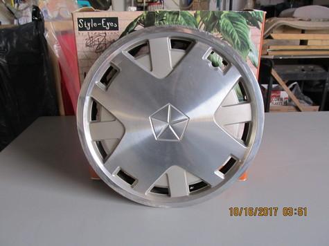 4- OME Chrysler 14 in. brushed aluminum wheel discs
