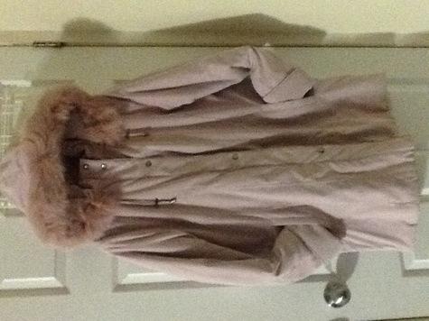 Women's pink winter coat