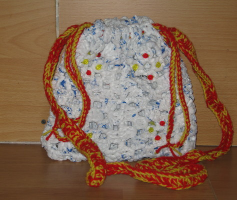 Hand Crocheted Plastic Bag Purse 2