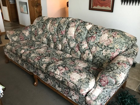 Flowered couch-good condition