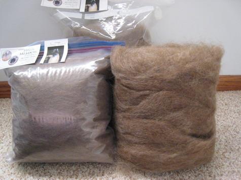 priced to sell, medium brown llama roving