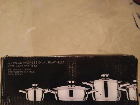 21 Piece Professional Platinum Cooking System