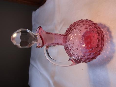 Cranberry Glass Hobnail oil/vinegar cruet