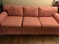 Lane  red and white sofa, very good condition, $100.00 cash
