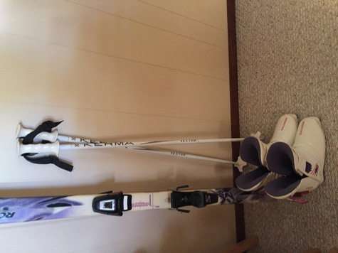 Ladies Boots, skis and poles