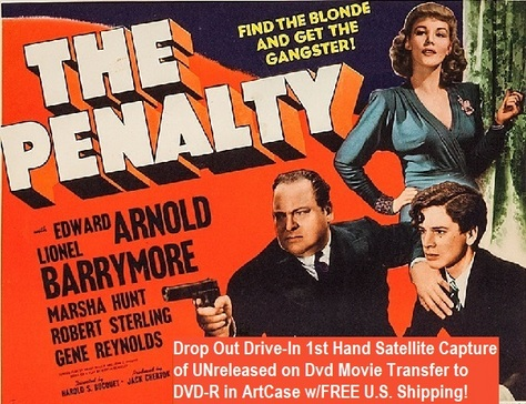 """""""The Penalty"""" (1941)(DVD-R)"""