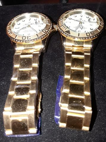 Men's Gold tone stainless steel