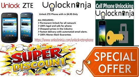 Unlock ZTE Phone For $4.95