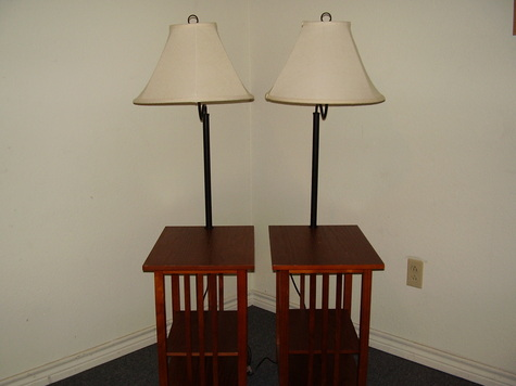 side tables with lamps