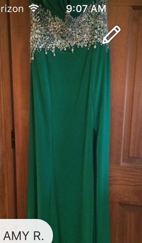 Green gown for prom or pageant