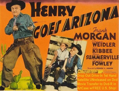 """Henry Goes Arizona"" (1939)(DVD-R)"