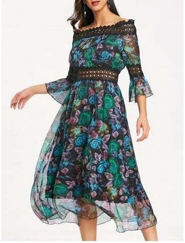 Midi Print Floral Dress $28.93