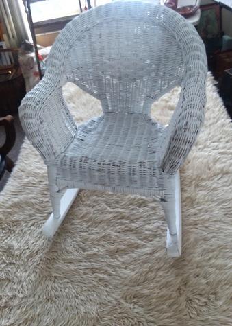 White Wicker chair