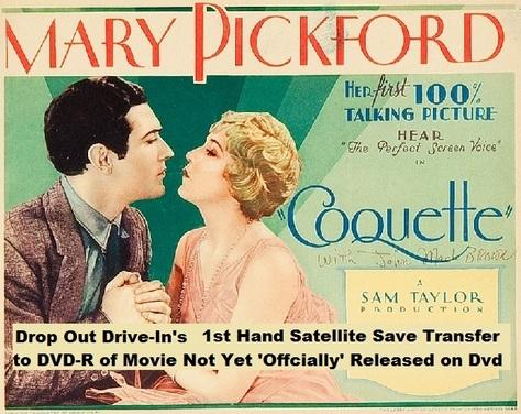 """""""Coquette"""" (1929)(DVD-R)"""