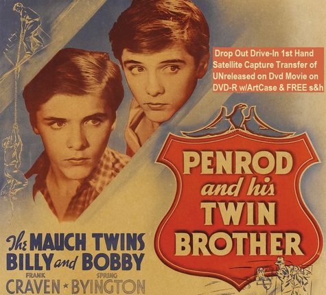 """""""Penrod and His Twin Brother"""" (1938)(DVD-R)"""