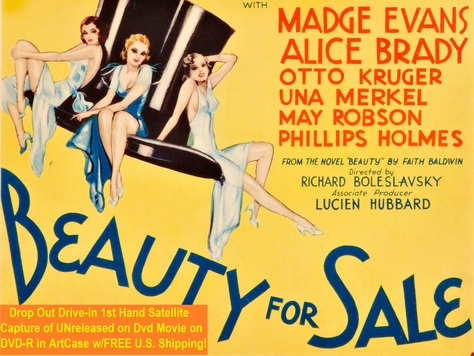 """""""Beauty for Sale"""" (1933)(DVD-R)"""
