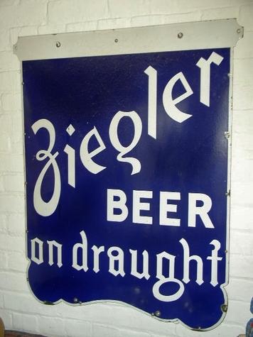 Large Ziegler Beer Sign