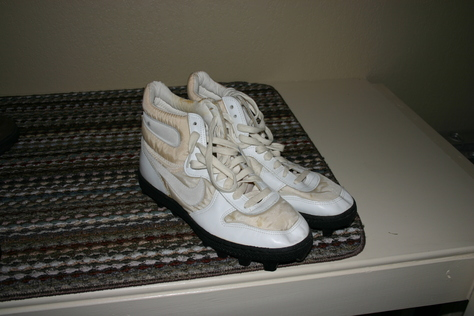 White Cleats Size 10.5